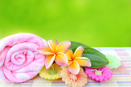 Spa setting and green background Stock photo  photo