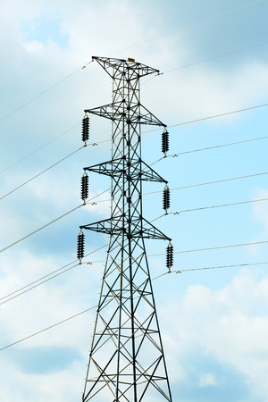 conductor electricity: High voltage post,electric post.