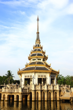 nonthaburi province: Thai style of Pavilion in the park of Nonthaburi province, Thailand.