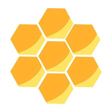 Bright honeycomb. Cartoon style. 向量圖像