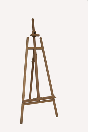 artist easel on a white background. stand for a picture. isolated