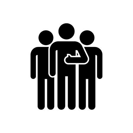 pictograma equipo. icono Mans. Tres personas. Ilustración de vector