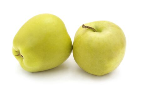 Two big apples isolated on a white background.