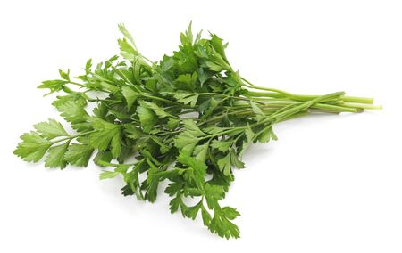Bunch of green parsley isolated on white background. Stock fotó