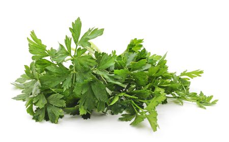 Bunch of green parsley isolated on white background.