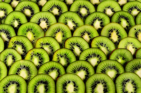 Background of the cut and laid out the kiwi Stock Photo