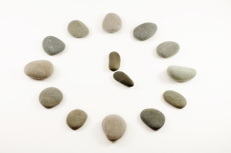 Stones laid out in the form of clock