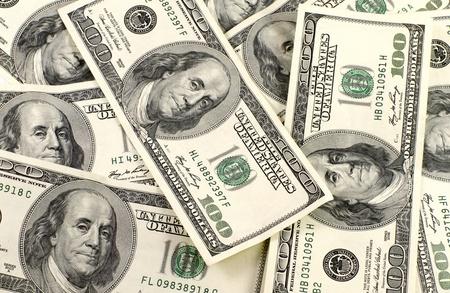 Background of dollar bills Stock Photo