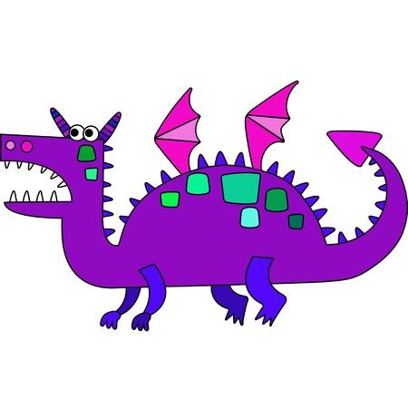 Cartoon colored dragon symbol of new year Vector