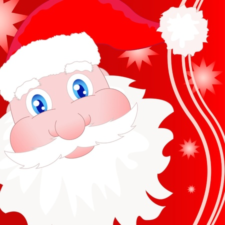 Santa Claus greeting card in red color