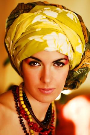 Sensual beautiful mysterious lady