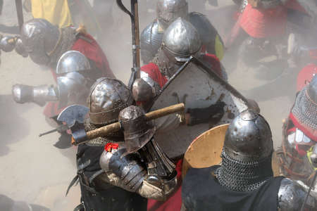 halberd: Fight on the battlefield Stock Photo