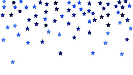 Beautiful random confetti stars for invitation template background design, greeting card, poster valentine day vector illustration Vettoriali