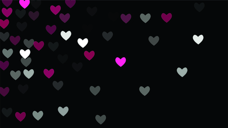 Beautiful Confetti Hearts Falling Background