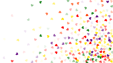 Beautiful Confetti Hearts Falling on Background. Invitation Template Background Design, Greeting Card, Poster. Valentine Day. Vector illustration