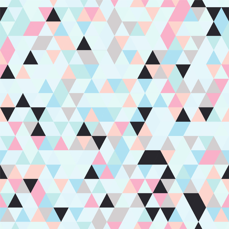 Seamless Texture. Triangle Seamless Background with Triangle Shapes of Different colors.  Textile, Fabric, Paper, Wallpaper Print Template Magazine, Leaflet, Booklet. Template for Your Design
