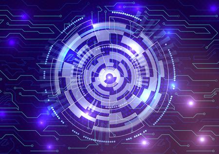 Fondo de Big Data. Contenido visual futurista. Concepto de diseño de seguridad de red. Gran conexión de datos compleja. Estructura de matriz de datos. Resumen ilustración vectorial.