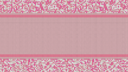 Knitted Stitch Seamless Pattern with Empty Space for Text. Vector Knitted Stitch for Your Design. Winter Sweater Holiday Design. Vector. Illustration