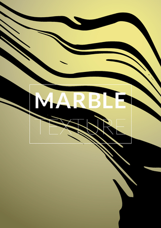 Marble Texture. Ink Splash. Colorful Fluid. Marble Textured Cool Cover, Party Flyers,  Business Card, Poster Design, Futurist Title Page. Gradient Vector Marble Texture. Size A4. Illustration