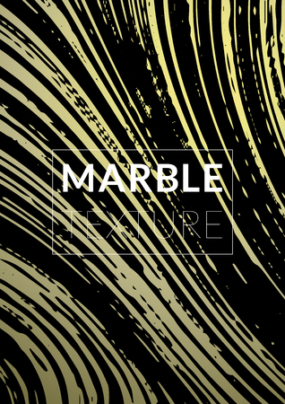 Gradient marble textured cool cover for party flyers, business card, poster design. Futurist title page, size A4. Illustration