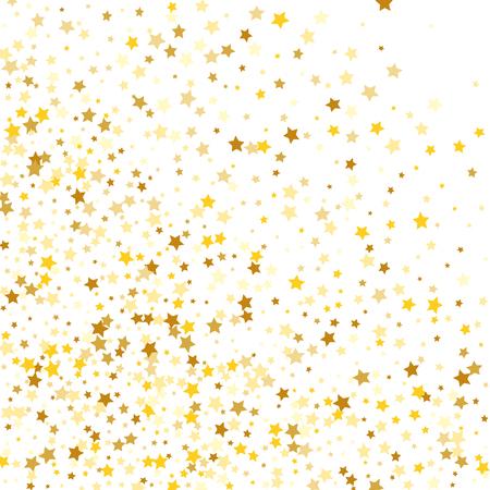 Golden Stars Background. Beautiful Falling Golden Stars Confetti. Vectores
