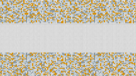 Knitted Stitch Seamless Pattern with Empty Space for Text. Vector Knitted Stitch for Your Design. Winter Sweater Holiday Design. Vector