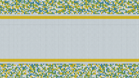 Gestricktes Stich-nahtloses Muster mit leerem Raum für Text. Vektor gestrickter Stich für Ihr Design. Winter-Strickjacke-Feiertags-Entwurf. Vektor Vektorgrafik
