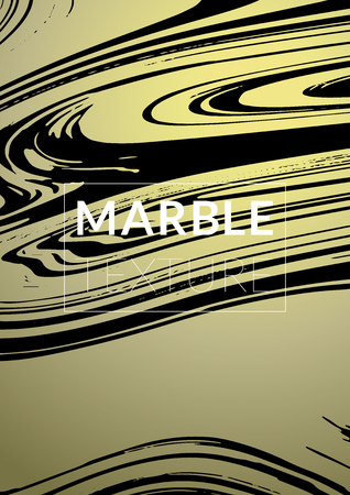 Marble Texture. Ink Splash. Colorful Fluid. Poster, Brochure, Invitation, Simple Design Presentation,  Business Card, Poster Design, Futurist Title Page. Gradient Vector Marble Texture. Size A4.