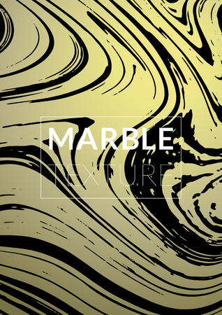 Marble Texture. Ink Splash. Colorful Fluid. Poster, Brochure, Invitation, Simple Design Presentation,  Business Card, Poster Design, Futurist Title Page. Gradient Vector Marble Texture. Size A4. Ilustração