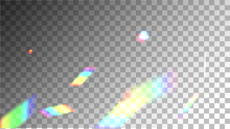 Holographic Background with Light Glitch Effect. Iridescent Background. Vector Rainbow Gradient with Sunshine Glare. Mesh Holographic Foil Backdrop. Trendy Hologram Vector Background