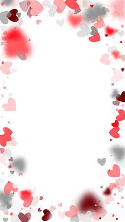 Harten die naar beneden vallen. Illustratie met mooie harten voor uw ontwerp. Bruiloft achtergrond voor wenskaart, uitnodiging of banner. Vector illustratie.
