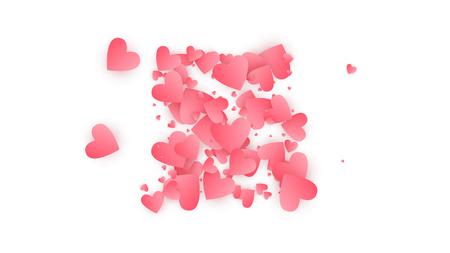 Glücklicher Valentinstag-Hintergrund. Illustration für Ihr glückliches Valentinstag-Design. Hochzeitshintergrund für Grußkarte, Einladung oder Banner. Vektor-Illustration.