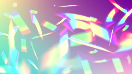 サンシャイングレアとベクトルレインボーグラデーション。虹色の背景。ホログラフィックライトグリッチ効果。メッシュホログラフィックホイル。トレンディなホログラムベクトルの背景。創造的なお祝いの背景。