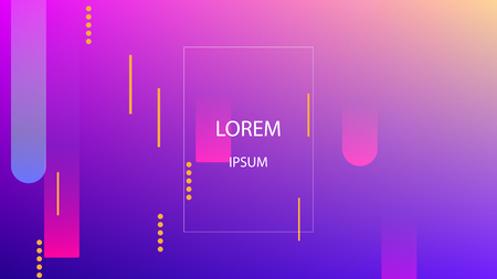 Colorful Background with Simple Geometric Shape. Holographic Colour Gradient. Cool Abstract Background. Template for Banner, Poster or Flyer Design. Vector Illustration.