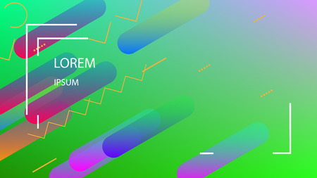 Colorful Background with Simple Fluid Shapes. Holographic Colour Gradient. Cool Abstract Background. Template for Banner, Poster or Flyer Design. Vector Illustration.