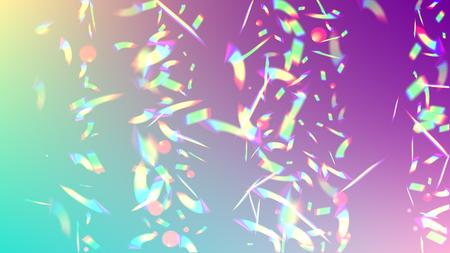 Iridescent Background. Holographic Light Glitch Effect. Vector Rainbow Gradient with Sunshine Glare.   Mesh Holographic Foil. Trendy Hologram Vector Background. Creative Festive Backdrop. Illustration