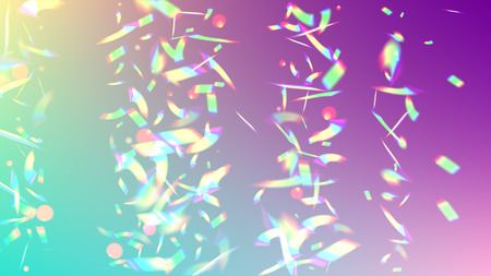 Vector Rainbow Gradient with Sunshine Glare.  Iridescent Background. Holographic Light Glitch Effect.  Creative Festive Backdrop.  Mesh Holographic Foil. Trendy Hologram Vector Background.