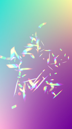 Holographic Light Glitch Effect. Iridescent Background.  Vector Rainbow Gradient with Sunshine Glare.    Trendy Hologram Vector Background. Mesh Holographic Foil. Creative Festive Backdrop. Ilustracja