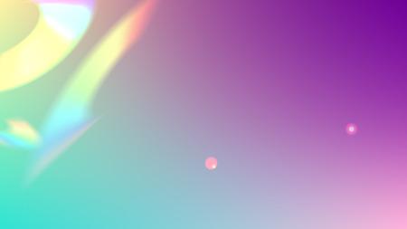 Iridescent Background. Holographic Light Glitch Effect. Vector Rainbow Gradient with Sunshine Glare.    Trendy Hologram Vector Background. Mesh Holographic Foil. Creative Festive Backdrop. Stock Illustratie