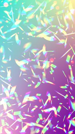 サンシャイングレアとベクトルレインボーグラデーション。虹色の背景。ホログラフィックライトグリッチ効果。トレンディなホログラムベクトルの背景。メッシュホログラフィックホイル。創造的なお祝いの背景。