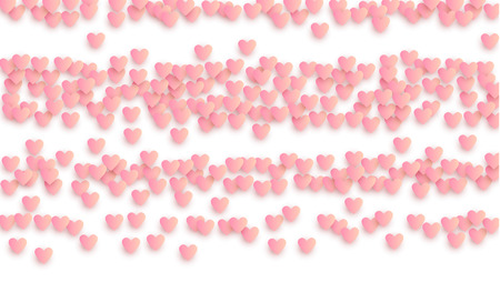 Love Background with Paper Hearts. Illustration with Love Heart for your Design.     Wedding Background for Greeting Card, Invitation or Banner. Vector illustration.