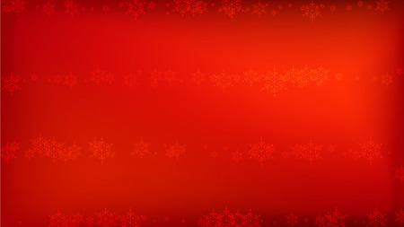 Snowflakes Red Christmas Background. Vector Falling Snowflakes on a Red Background.
