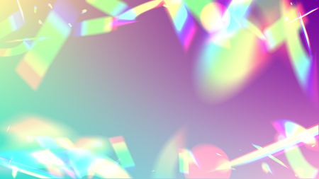 Vector Rainbow Gradient with Sunshine Glare.  Iridescent Background. Ilustracja