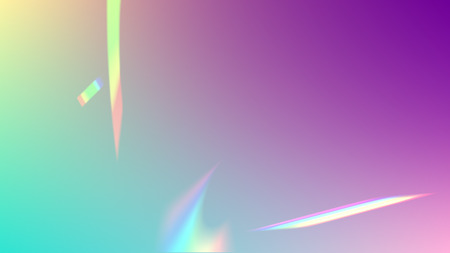 Vector Rainbow Gradient with Sunshine Glare.  Iridescent Background. Holographic Light Glitch Effect.   Mesh Holographic Foil. Trendy Hologram Vector Background. Creative Festive Backdrop.