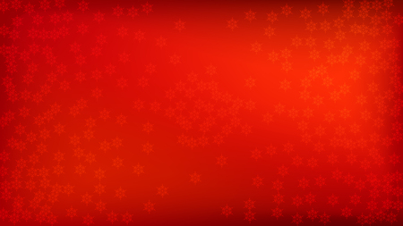 Beautiful Red Christmas Background with Falling Snowflakes.  Element of Design with Snow for a Postcard, Invitation Card, Banner, Flyer.  Vector Falling Snowflakes on a Red Winter Background. Ilustrace