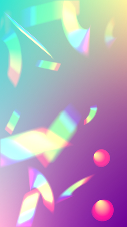 Vector Rainbow Gradient with Sunshine Glare. Iridescent Background. Holographic Light Glitch Effect. Trendy Hologram Vector Background. Mesh Holographic Foil. Creative Festive Backdrop.