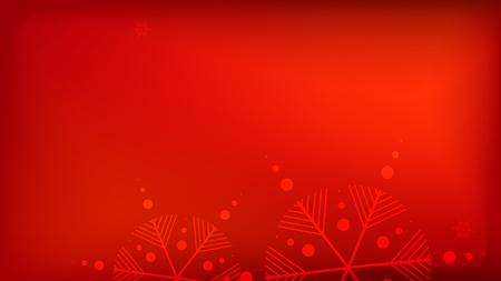 Roter Weihnachtshintergrund der Schneeflocken. Fallende Schneeflocken des Vektors auf einem roten Hintergrund. Element des Designs mit Schnee für eine Postkarte, Einladungskarte, Banner, Flyer.