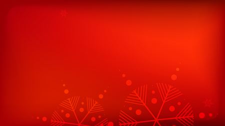 Snowflakes Red Christmas Background. Vector Falling Snowflakes on a Red Background. Element of Design with Snow for a Postcard, Invitation Card, Banner, Flyer.