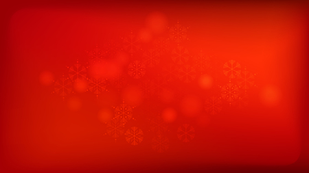 Beautiful Red Christmas Background with Falling Snowflakes.   Vector Falling Snowflakes on a Red Winter Background. Element of Design with Snow for a Postcard, Invitation Card, Banner, Flyer. Illustration