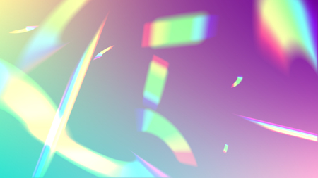 Vector Rainbow Gradient with Sunshine Glare.  Iridescent Background. Holographic Light Glitch Effect.   Mesh Holographic Foil. Trendy Hologram Vector Background. Creative Festive Backdrop.